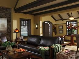 ... Exquisite Craftsman Style Molding For Your Interior Decoration :  Stunning Living Room Decoration Using Upholstered Black ...