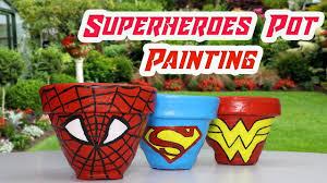 diy superhero pot painting how to paint a pot at home pot painting for