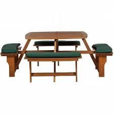 royalcraft sacramento 8 seater hardwood picnic bench set with cushions