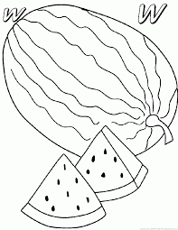 Small Picture Watermelon Coloring Pages