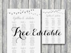 Editable Seating Chart Wedding Free Night Light Wedding Chart Printable Seating Seating