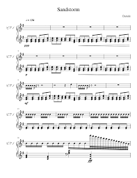 sandstorm darude sheet music for piano and keyboard musescore
