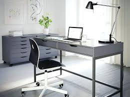 ikea white office furniture. Ikea Linnmon White Office Desk Table Furniture Standing A Grey Home With