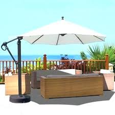 cantilever umbrella with solar lights improbable led round offset patio in chili red 11 ft interior