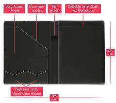 Interesting Leather Portfolio for Resume with Stylio Padfolio Resume  Portfolio Folder Interview