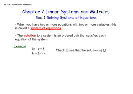 chapter 7 linear systematrices