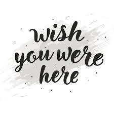 あなたがここにいた願いを描いた手書き文字のタイポグラフィイラスト材料