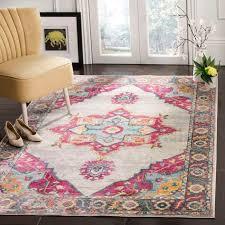 area rugs doucet cream pink area rug