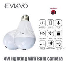 Buy Evkvo 960p Bulb Light Wireless Ip Camera 360 Degree Panoramic