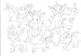 Small Picture Pokemon Eevee Evolutions Coloring Pages 2017 Coloring Pokemon