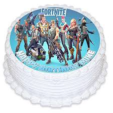 Fortnite Cake Image Personalized Topper Icing Sugar Paper 8 Round