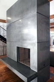 concrete fireplace smooth polished design surround toronto concrete fireplace custom surrounds