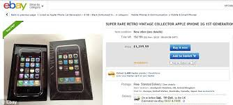 iphone 2g price. boxed and unlocked handsets are currently selling on ebay for around £1,400, pictured, iphone 2g price p