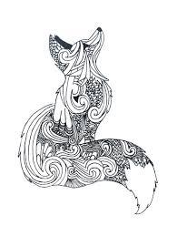 Zentangle Fox Draw Disegno Arte Libri Da Colorare E Pagine Da