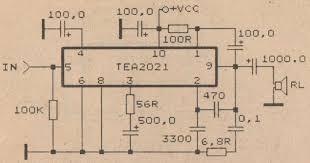 14 watt car audio lifier circuit schematic diagram