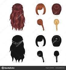 カラ赤い三つ編みとヘアスタイルの他の種類バックの髪型が漫画