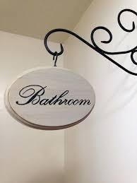 Bathroom Signs For Home Adorable Bathroom Sign Cream On Bathroom