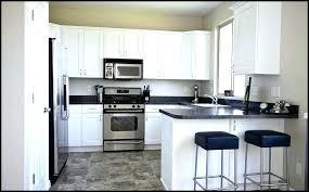 l shaped kitchen designs with breakfast bar black chair small u design ideas