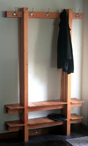 Shoe Rack And Coat Hanger Bench and coat hooks for hubby to take off his dirty work boots and 4
