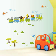 new removable sticker animal roller style wall stickers for nursery boy kids baby room decor vinyl art decal in wall stickers from home garden on  on nursery room wall art with new removable sticker animal roller style wall stickers for nursery