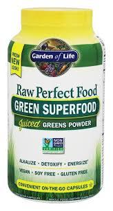 garden of life raw perfect food green super food 240 vegetarian capsules at luckyvitamin com