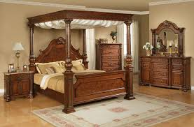 Bedroom Canopy Bed Furniture King Size Bed With Mirrored Canopy ...