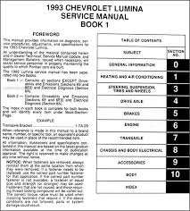 chevy lumina car repair shop manual original volume set