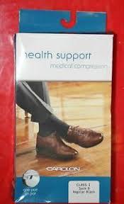 Details About Carolon Health Support Medical Compression Sock 15 20 Mmhg Sock D Regular Black