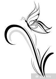 Fototapeta Vinylová Stylizované Motýl Tetování