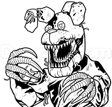 Fnaf Coloring Pages Golden Freddy At Getcoloringscom Free