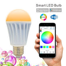 iphone controlled lighting. flux wifi smart led light bulb works with alexa smartphone controlled multicolored color changing lights dimmable night amazoncom iphone lighting