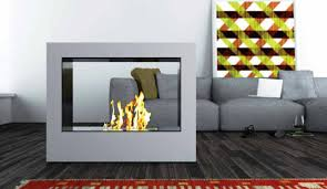 image of glass fireplace screen free standing