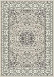 plush design gray and cream area rug plain decoration ancient garden 57119