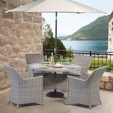 venice 4 seater round dining garden set