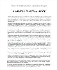 Short Term Commercial Lease Agreement Template Tenancy Free Download ...