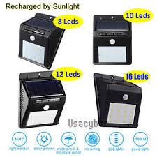 8-<b>48 LED Solar</b> Power PIR Motion Sensor Wall <b>Light Outdoor</b> ...