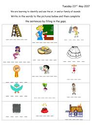 I also tell them that er, ir, and ur are pronounced the same. Er Ir And Ur Worksheet Teaching Resources