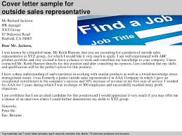 cover letter sample for outside sales representative cover letter for sales rep