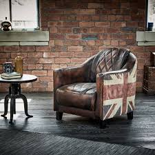 wallace sacks brown multi union jack leather armchair armchairs velvet sofa loaf settees large grey types