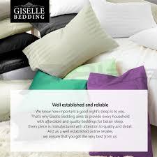 fitted sheet vs flat sheet giselle bedding stripe cotton satin 1000tc 4pc bed sheet set flat