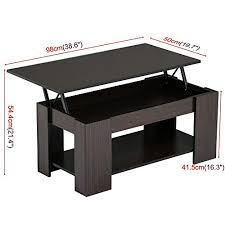 coffee tables yaheetech lift up