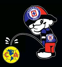 Cruz Azul orinando Amerika Decal Car ...