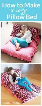Sewing Projects for The Home - Cozy Pillow Bed - Free DIY Sewing Patterns,  Easy