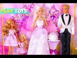 barbie doll and ken wedding day party