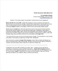Business Press Release Template 23 Press Release Template Free Sample Example Format
