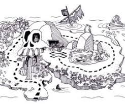 Small Picture Treasure Map Coloring Pages Pirate Treasure Map Coloring Page
