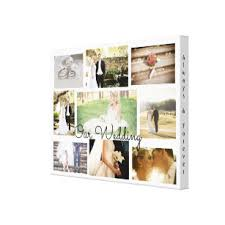 personalized wedding photo collage wall art white on personalized photo collage wall art with always and forever wrapped canvas prints zazzle
