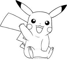 Disegno Di Pikachu Dei Pokemon Da Colorare