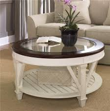 living room glass table classic round white brown wooden painted coffee table brown woven living room