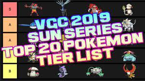 VGC 2019 Sun Series Top 20 Pokemon Tier list - Pokemon Ultra Sun and Ultra  Moon Discussion - YouTube